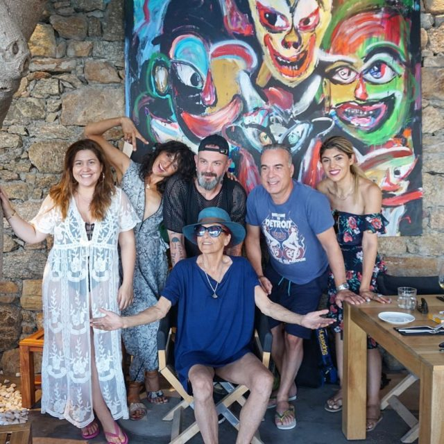 With Greek royalty Aka my patriciafield family mykonos patriciafield