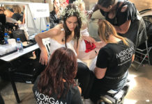 Rodarte backstage beauty at paris couture fashion week