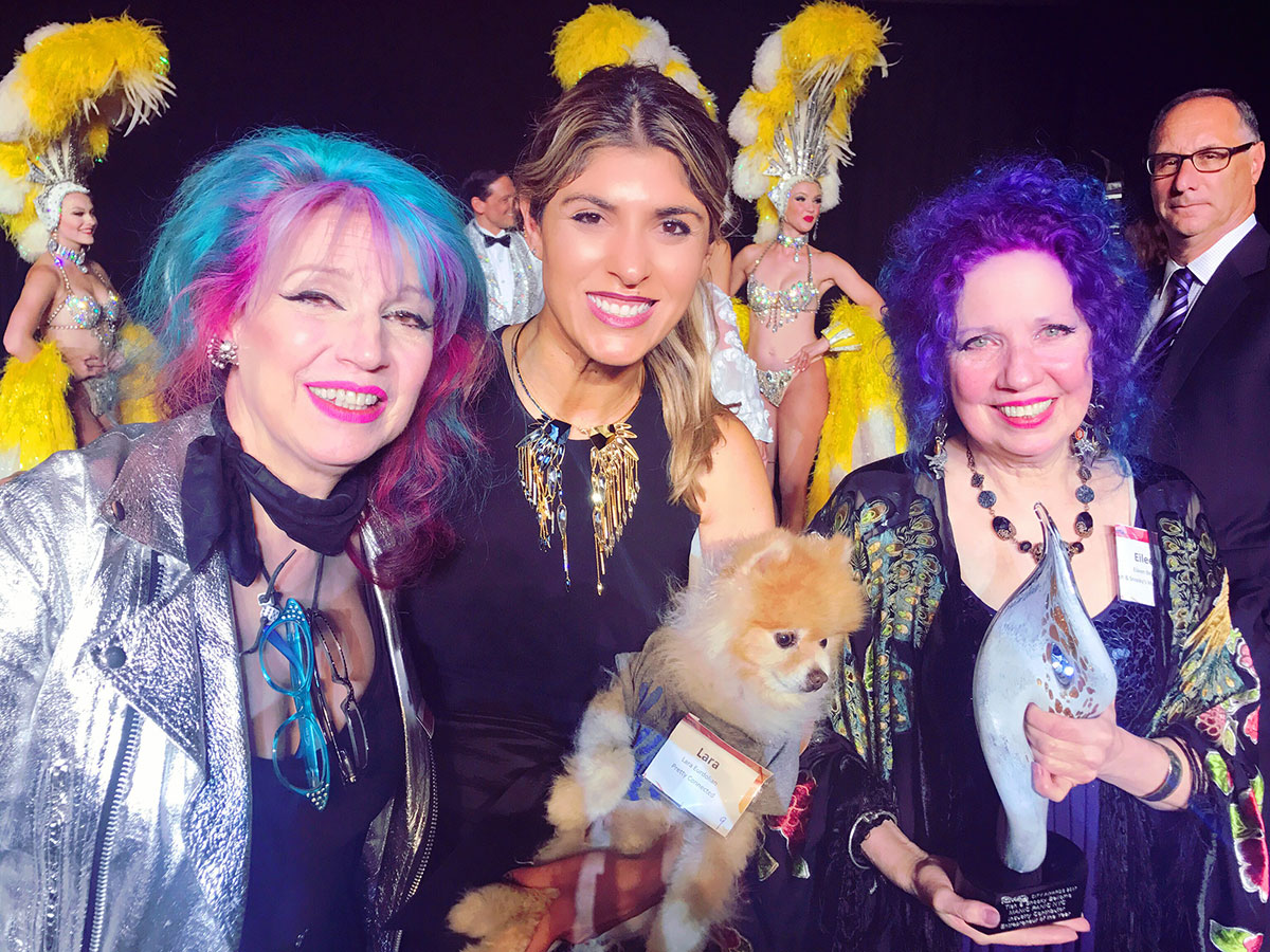 Tish and Snooky of Manic Panic with Lara Eurdolian at CITY ICMAD awards in las vegas