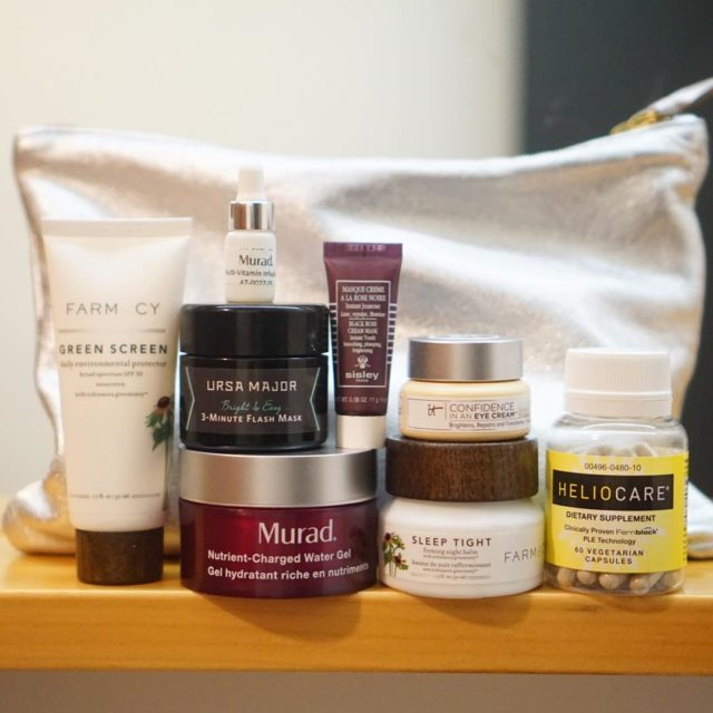 Packed these skincare rockstars for my trip upstate SPF fromhellip