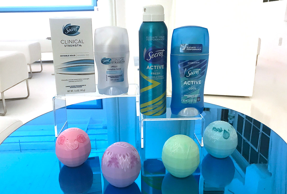 Secret Clinical, Active and Freshies deodorant