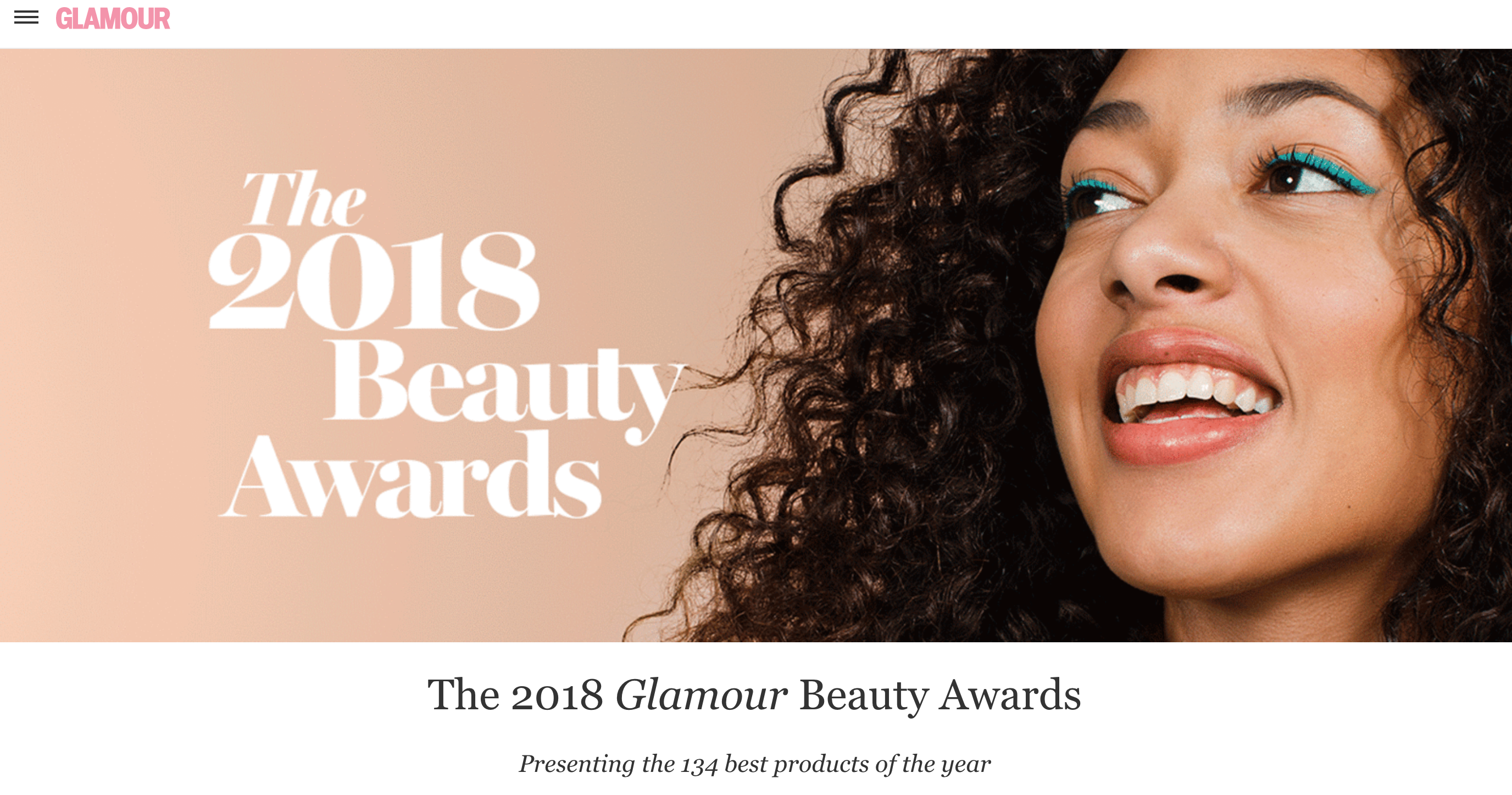 glamour magazine beauty award winners