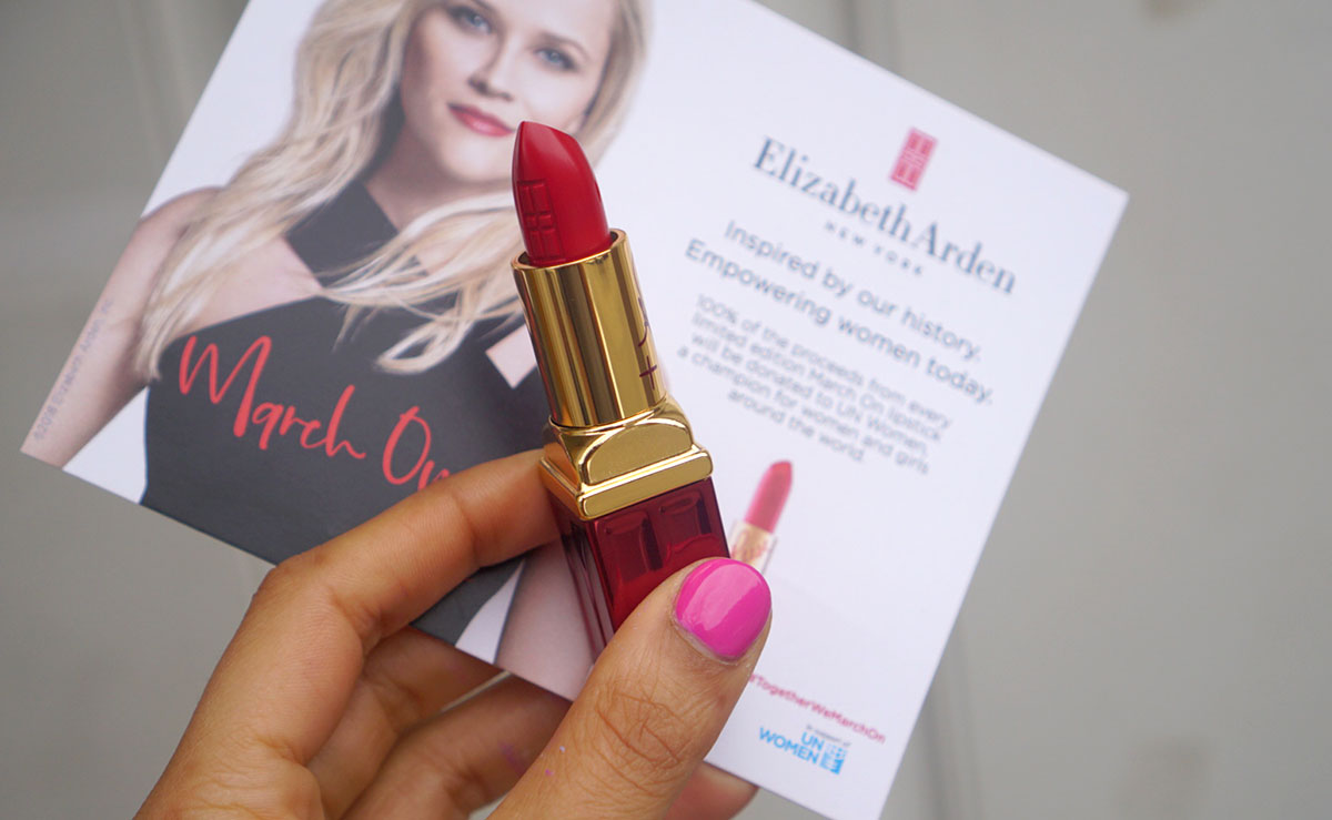 March On Elizabeth Arden x Reese Witherspoon lipstick
