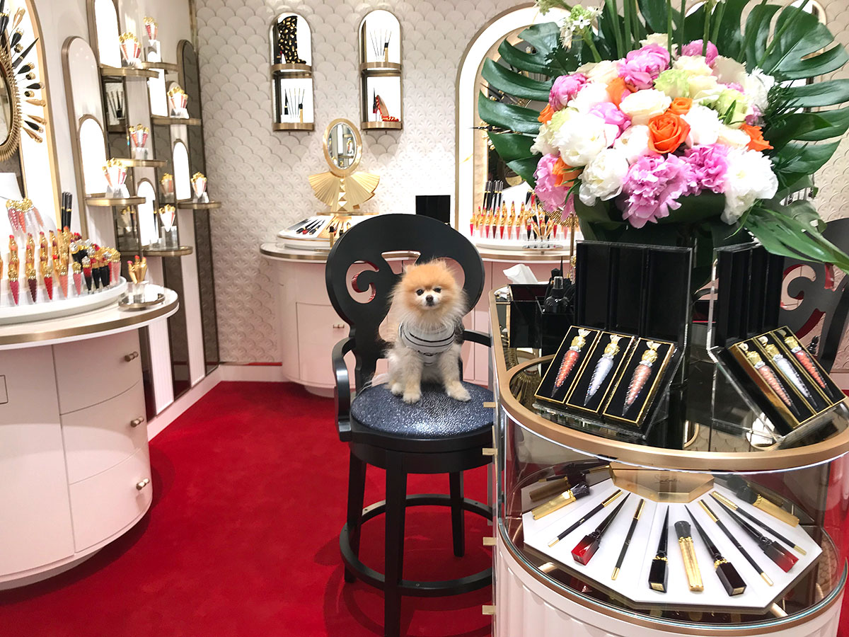 Louboutin Boutique beauty at Saks fifth avenue