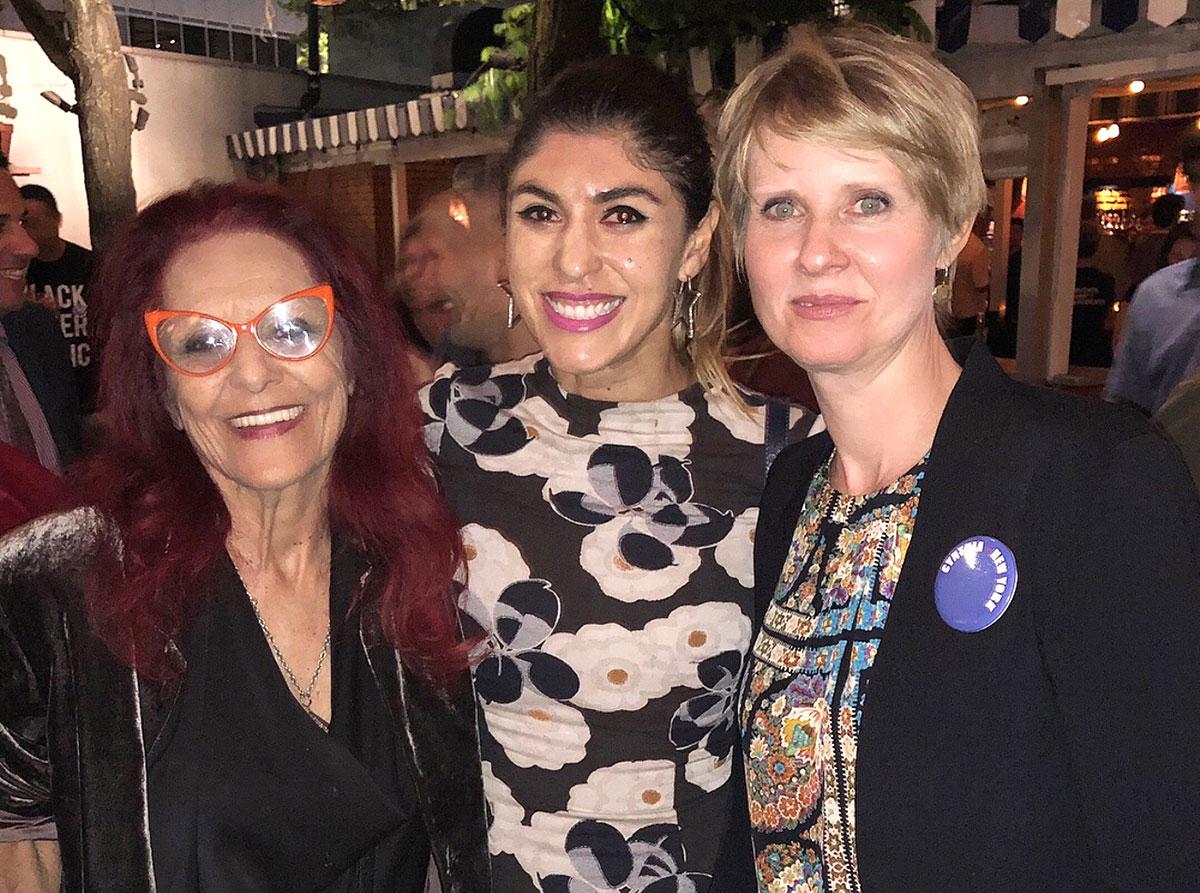 Patricia Field, Lara Eurdolian, Cynthia Nixon at her campaign fundraiser