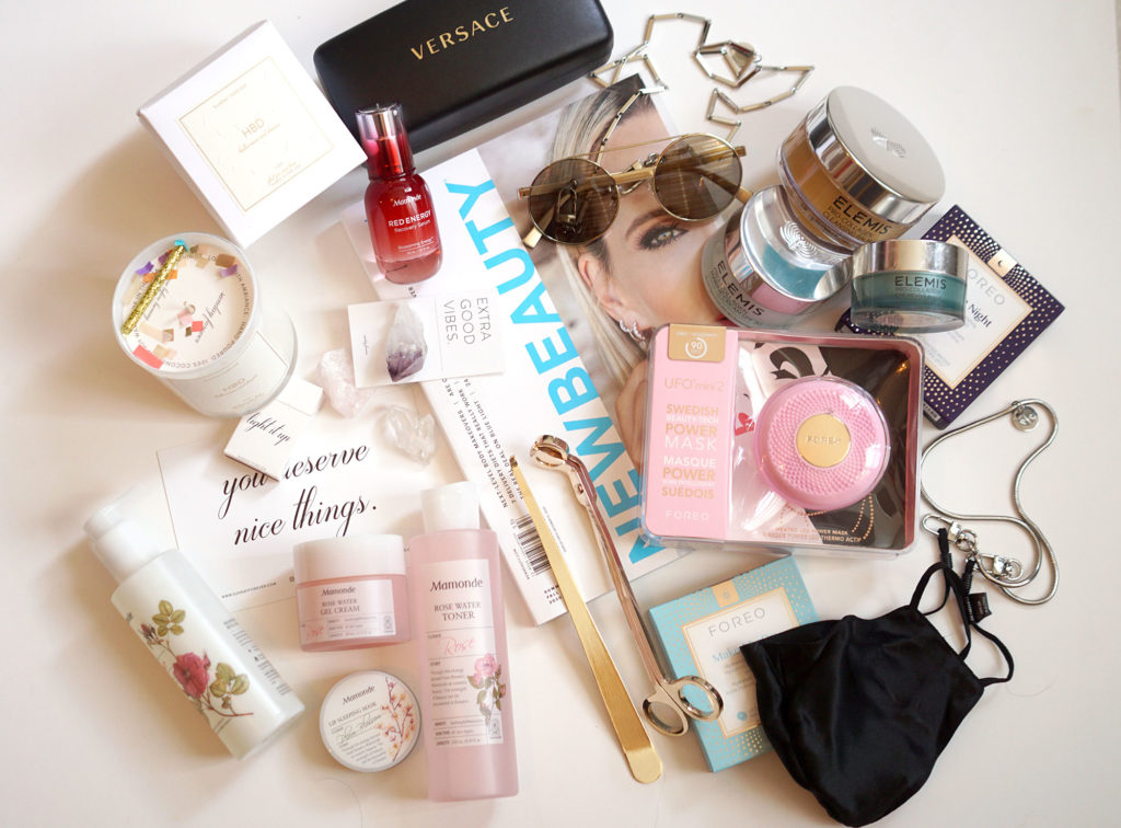 NewBeauty Live event with Lara Eurdolian of Pretty Connected featuring Mamounde, Sunday Forever, Foreo, Sunglass Hut, Versace, Elemis and Nigtht silk masks